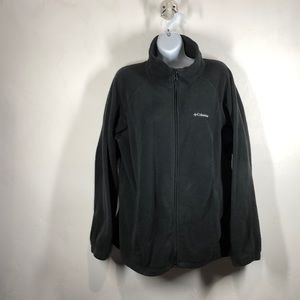 Columbia black fleece zip jacket size 1X